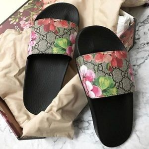 Gucci Casual Women's Floral Print Slides